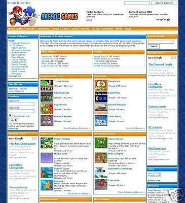 Product picture TURNKEY ARCADE WEBSITE SCRIPT With Over 2,000 GAMES